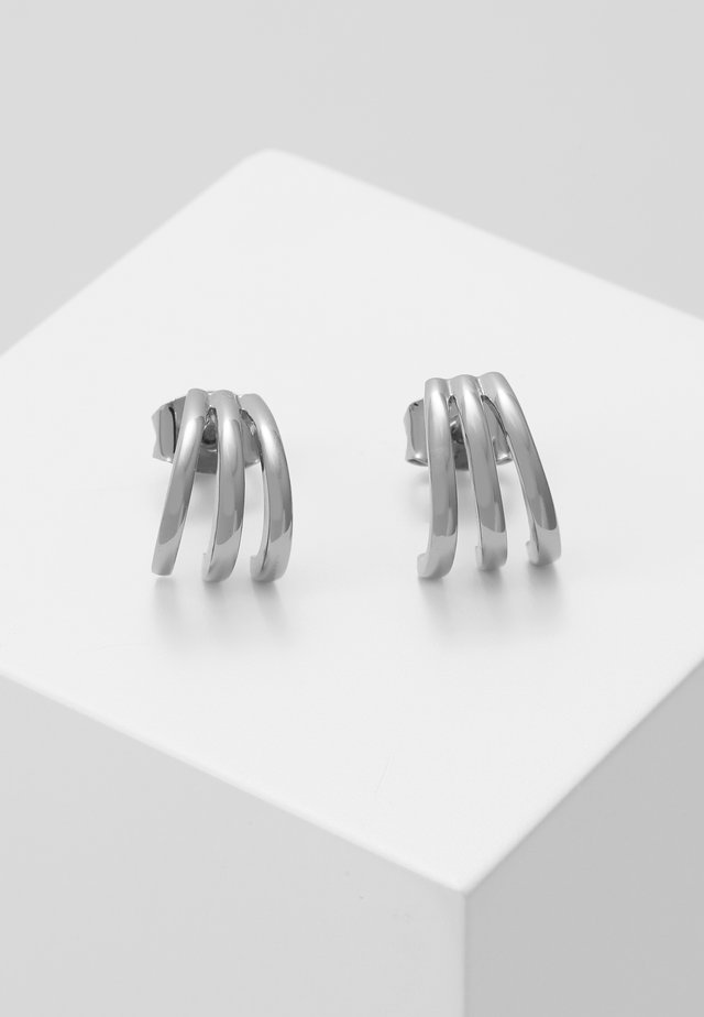 TRIPLE BAR STUD CUFF EARRINGS - Øredobber - silver-coloured