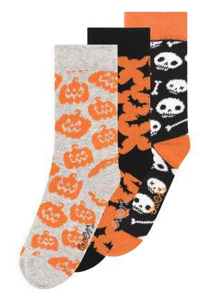 HALLOWEEN 3 PACK UNISEX - Socks - multi-coloured