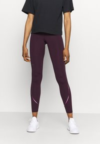 Under Armour - RUSH SCALLOP LEG  - Leggings - polaris purple - 0
