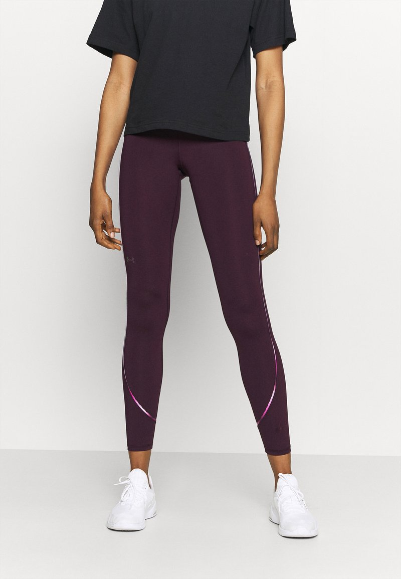 Under Armour - RUSH SCALLOP LEG  - Leggings - polaris purple