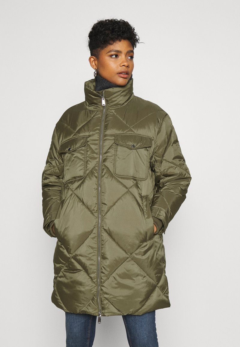 Tommy Jeans - DIAMOND QUILTED COAT - Winter coat - olive tree