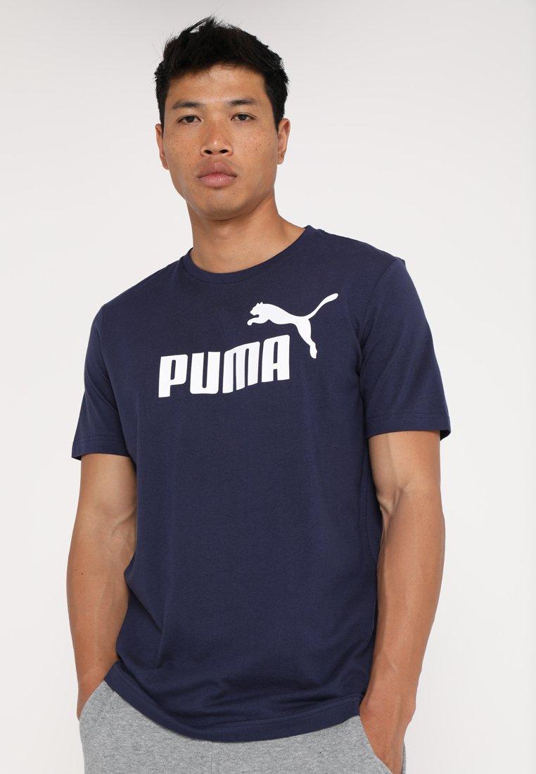Puma - LOGO TEE - Print T-shirt - peacoat