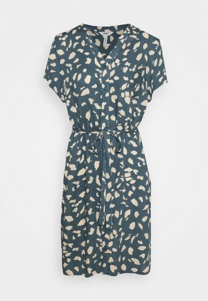 BIRDY DRESS - Blusenkleid - blue mirage/sandshell