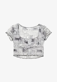 Topshop Petite - ASTRO RUCHED - Print T-shirt - mono - 3