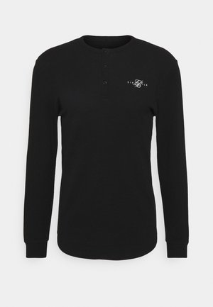 BUTTON DOWN TEE - T-shirt à manches longues - black