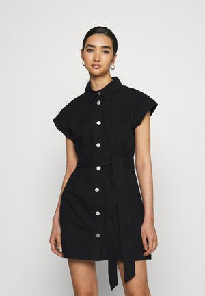 LINN DRESS - Shirt dress - black dark