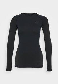 CREW NECK PERFORMANCE WARM - Funktionsshirt - black