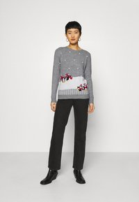 Dorothy Perkins - CHRISTMAS PENGUIN BOBBLE JUMPER - Jumper - grey marl - 1