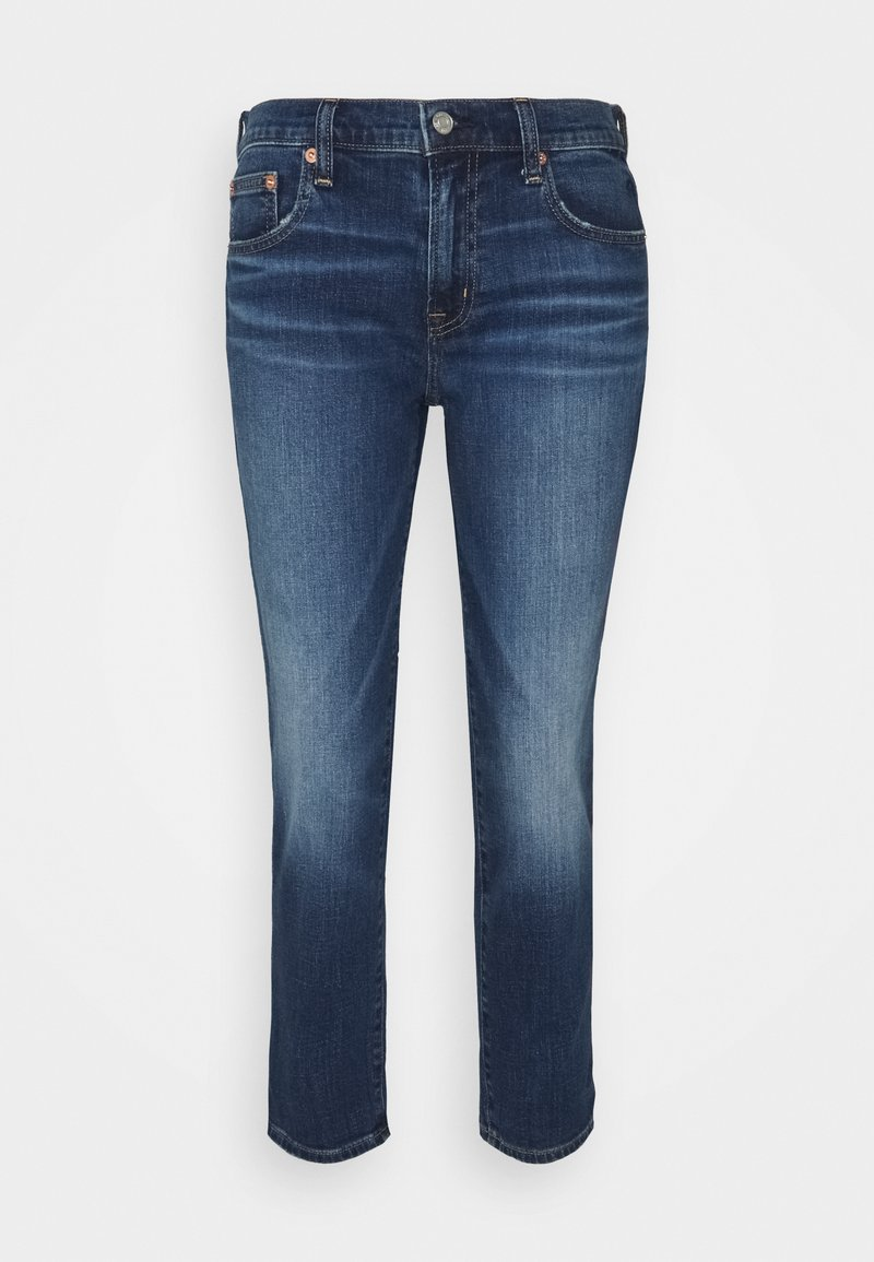 GAP Petite - CAVIN ROLL - Straight leg jeans - dark indigo