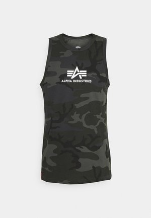 BASIC TANK - Top - black camo