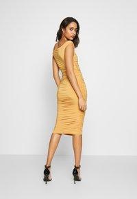 Club L London - BARDOT RUCHED DRESS - Cocktail dress / Party dress - mustard - 2
