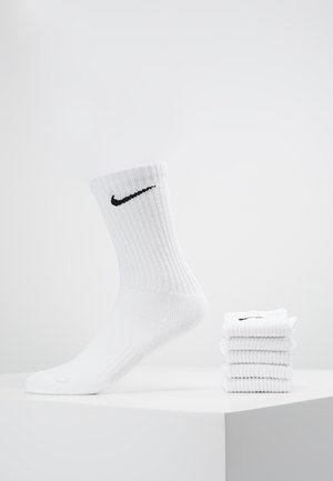 EVERYDAY CUSH CREW 6 PACK - Sports socks - white/black