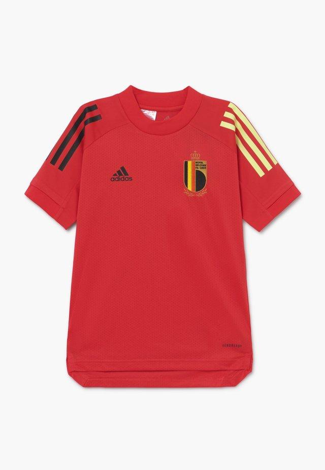 BELGIUM RBFA TRAINING SHIRT - Article de supporter - red