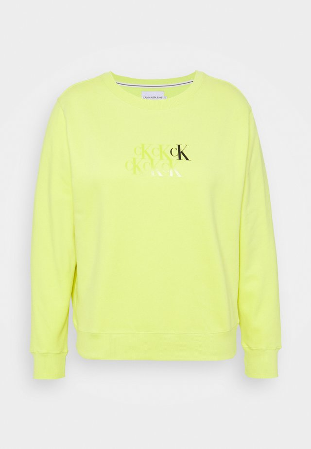 MONOGRAM CROPPED CREW NECK - Sweatshirt - lime zing