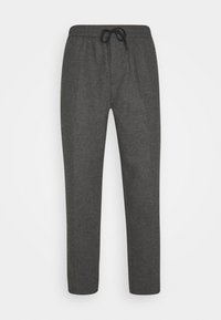 Scotch & Soda - FAVE BONDED BLEND PANT WITH ELASTICATED WAISTBAND - Trousers - graphite melange - 0