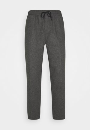 FAVE BONDED BLEND PANT WITH ELASTICATED WAISTBAND - Trousers - graphite melange