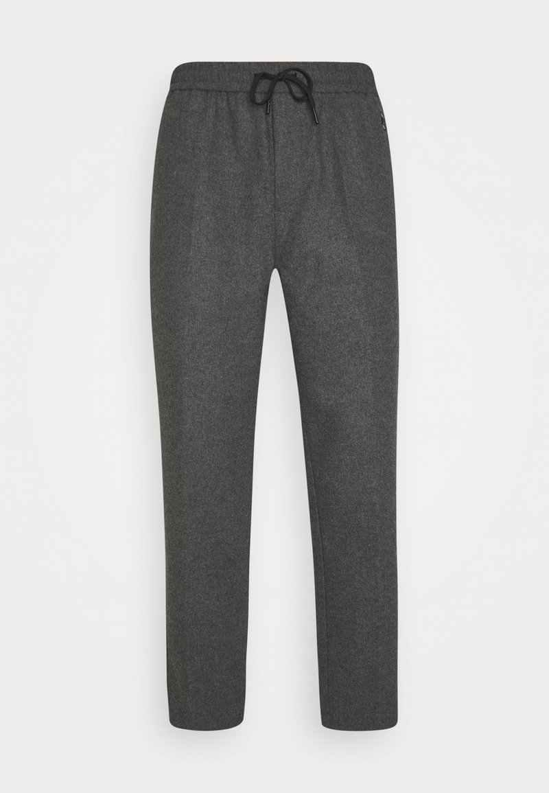 Scotch & Soda - FAVE BONDED BLEND PANT WITH ELASTICATED WAISTBAND - Trousers - graphite melange