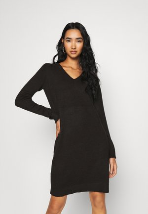 VIMILLA DRESS - Strikkjoler - black