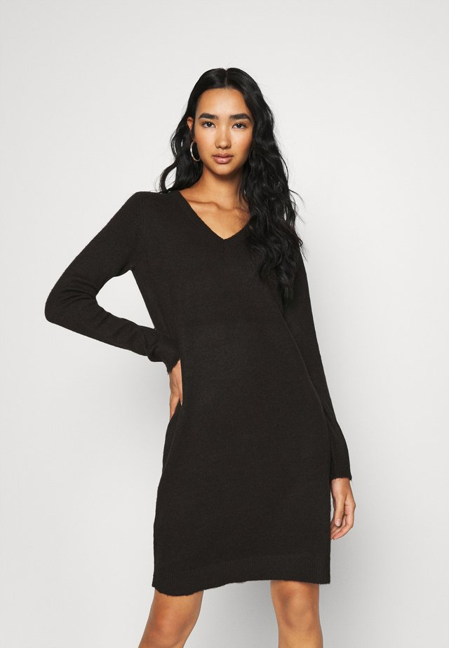 VIMILLA DRESS - Gebreide jurk - black