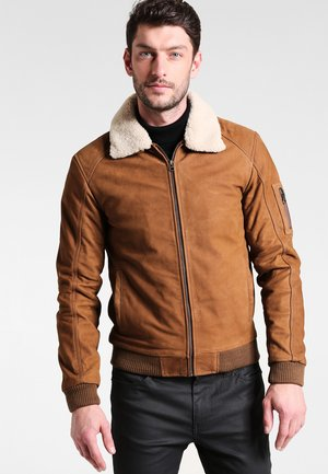 STYLISTE - Leather jacket - camel