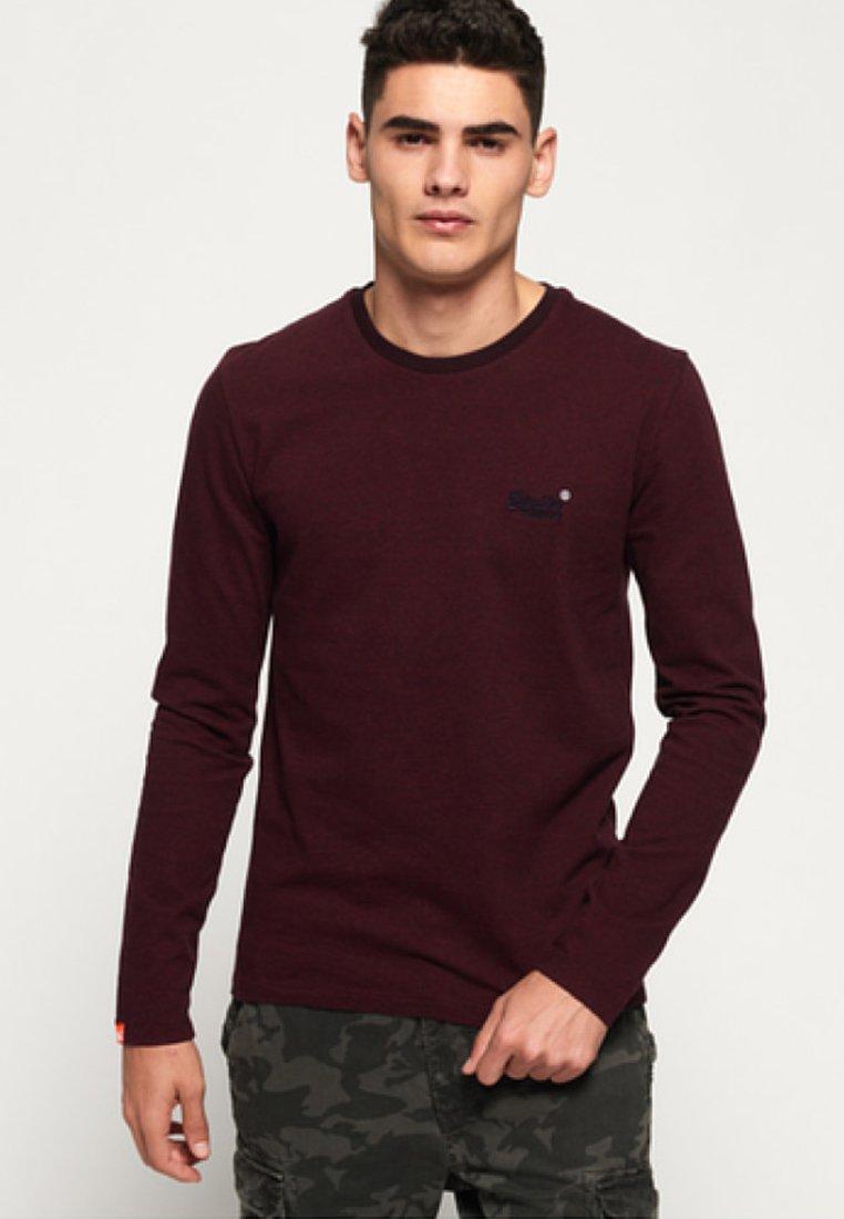 Men ORANGE LABEL - Long sleeved top - buck burgundy