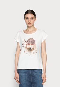 Cream - AMAT - Print T-shirt - eggnog - 0