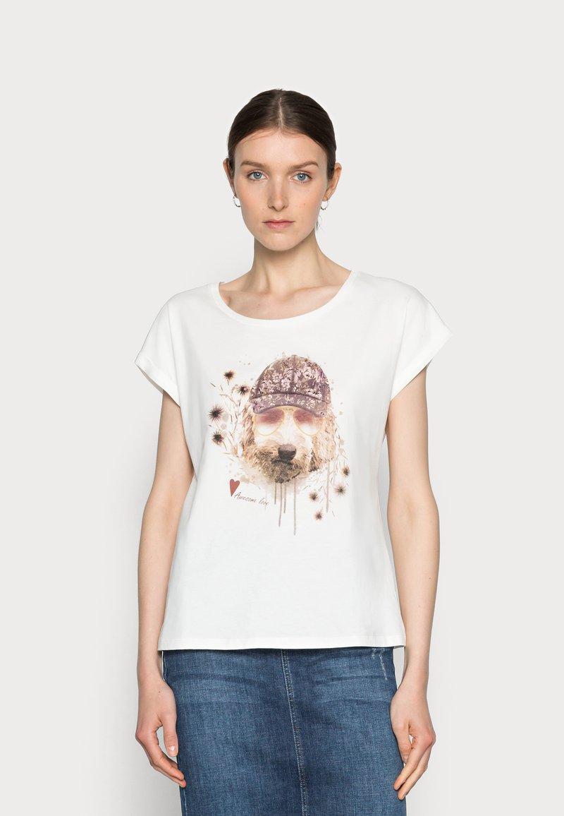 Cream - AMAT - Print T-shirt - eggnog