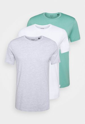 3 PACK - Basic T-shirt - frost/white/mint