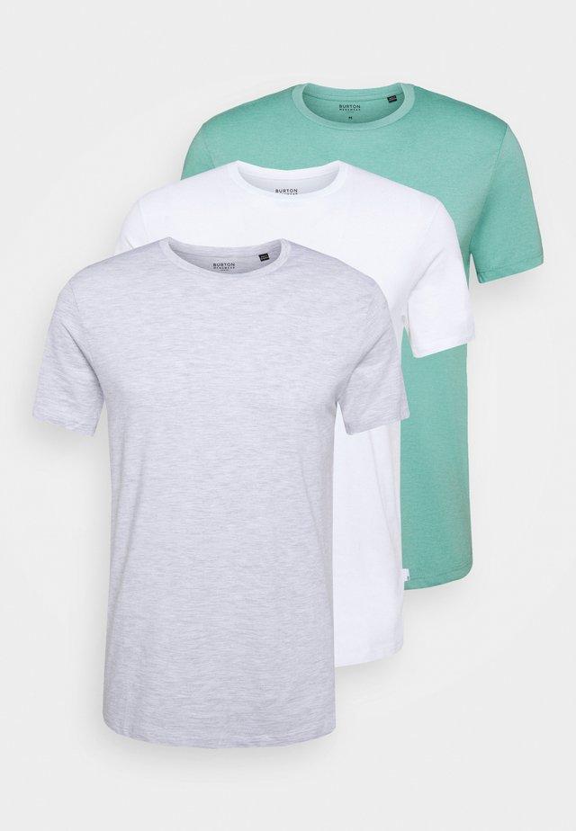 3 PACK - T-shirt basic - frost/white/mint