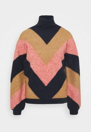 OVERSIZED MOCK NECK JUMPER - Jumper - multi coloured