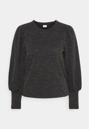 JDYEMMA PUFF SLEEVE  - Sweter - dark grey melange