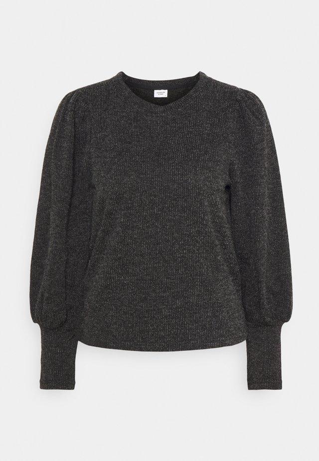 JDYEMMA PUFF SLEEVE  - Stickad tröja - dark grey melange