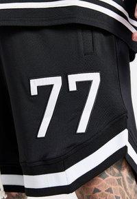 SIKSILK - AOKI BASEBALL - Shorts - black/white - 2