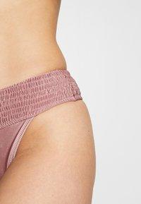 Topshop - SHIRRED FRONT CROP HI LEG - Bikini - rose - 4