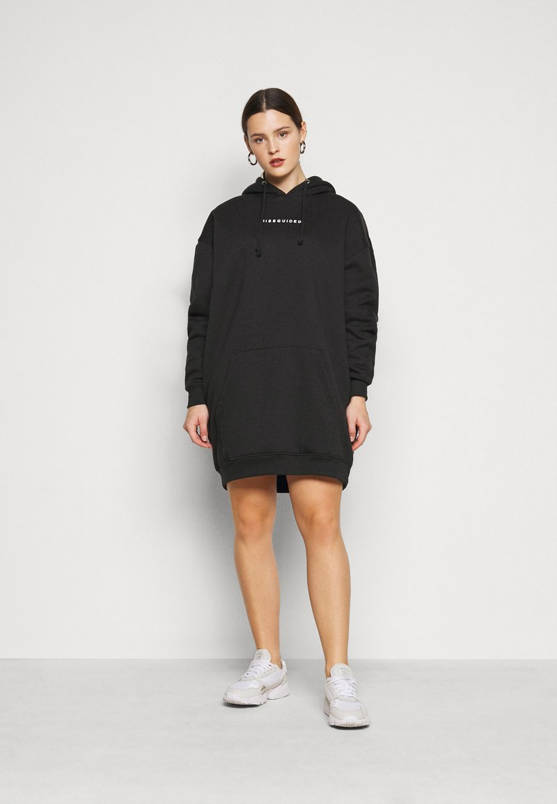 Missguided Plus - HOODIE DRESS - Day dress - black