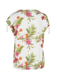 s.Oliver - O-SHAPE MIT RAFFUNG - Blouse - cream floral print - 2