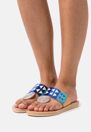 HERON  - T-bar sandals - aqua