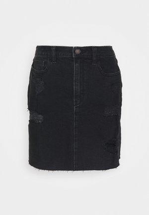 Denimová sukně - black destroy