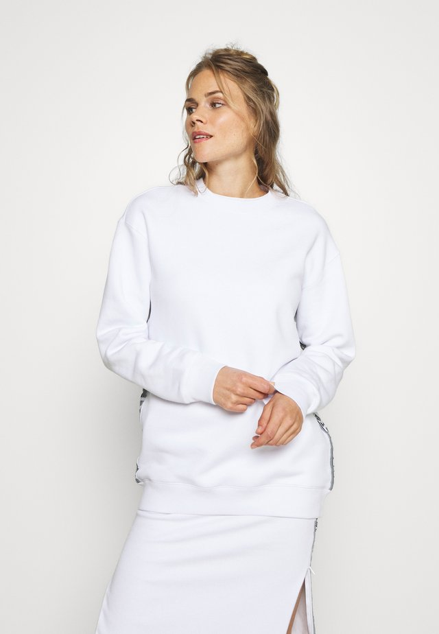 BOUNCE LOGO CREW - Sweatshirt - white