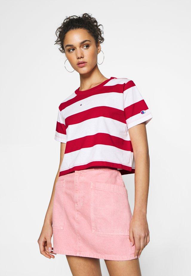 STRIPE - T-shirt print - white/red