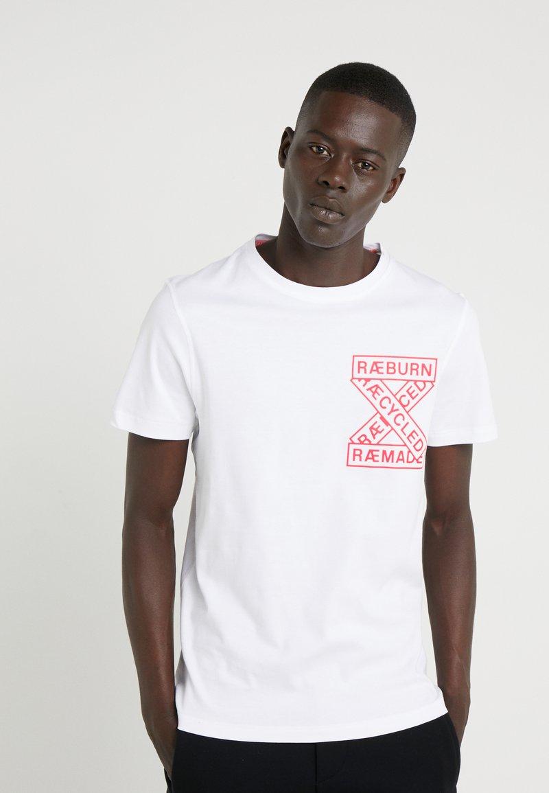 Raeburn - T-shirt con stampa - white