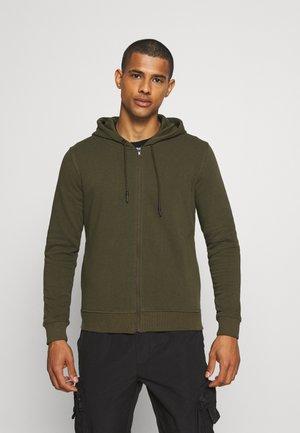 VICTOR5 - Zip-up sweatshirt - mid khaki