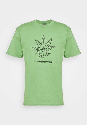 EASY GREEN TEE - Camiseta estampada - dill green