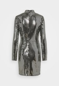 Missguided - FOIL SEQUIN HIGH NECK MINI DRESS - Cocktail dress / Party dress - black - 6