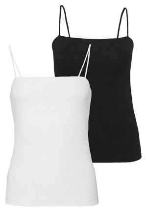 SCARLETT SINGLET 2 PACK - Topper - black/white