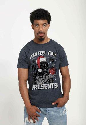 STAR WARS  - T-shirt print - melange black