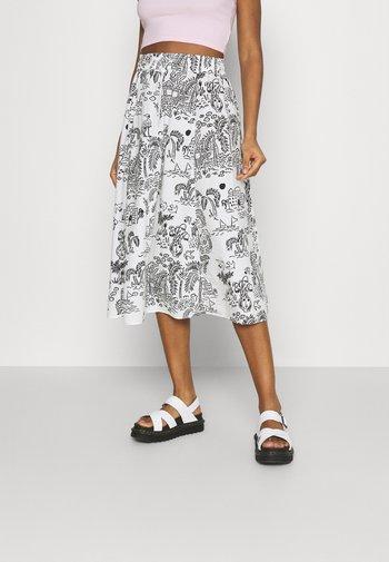 LUMI SKIRT - A-line skirt - white light