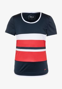 Fila - SAMIRA GIRLS - Print T-shirt - peacoat blue/white/red - 0