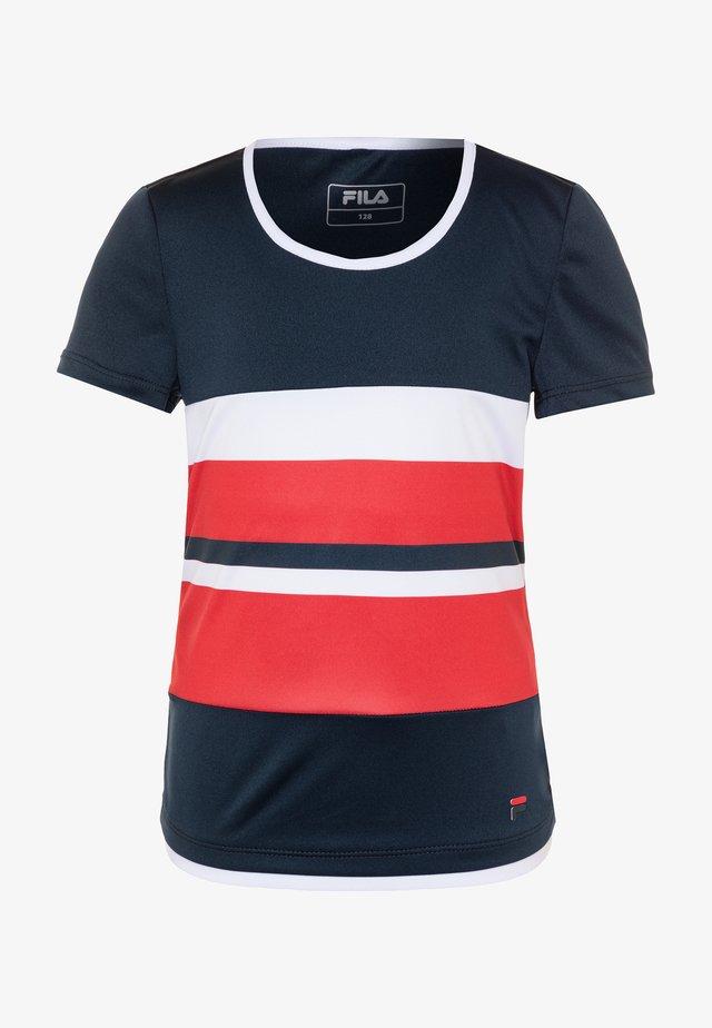 SAMIRA GIRLS - T-shirts med print - peacoat blue/white/red