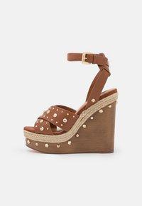 River Island - Platform sandals - brown light - 1
